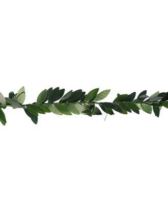 """Тесьма пластик, металл """"Зелёные листья"""" ширина 2 см намотка 2 метра арт. СМЛ-119281-1-СМЛ0003744990"""