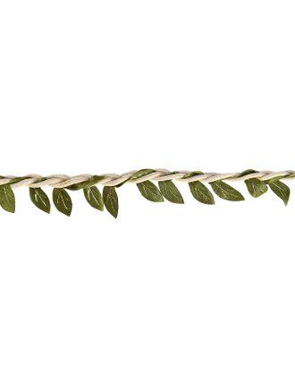 """Тесьма текстиль """"Листья"""" ширина 2,7 см намотка 2,5 метра арт. СМЛ-119813-1-СМЛ0003744991"""