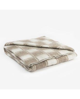 Одеяло полушерстяное, размер 140х205 см, цвет/клетка МИКС, 70% шерсти, 30 % полиэстер арт. СМЛ-32800-1-СМЛ3749203