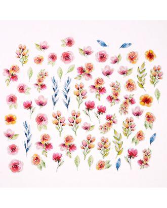 """Набор высечек """"Акварельные цветы"""" 66 элементов арт. СМЛ-14356-1-СМЛ3770106"""