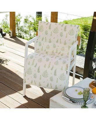 Подушка на уличное кресло «Этель» Листья 50×100+2 см, репс с пропиткой ВМГО, 100% хлопок арт. СМЛ-14501-1-СМЛ3799374
