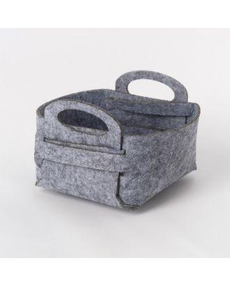 Корзина текстильная для хранения арт. СМЛ-23310-2-СМЛ3805092