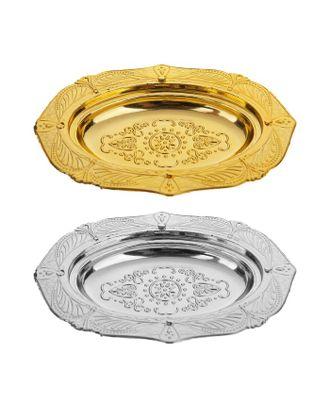 """Миниатюра кукольная """"Декоративная тарелка"""", набор 4 шт, размер 1 шт 10х7,5 см, цв.МИКС арт. СМЛ-14568-1-СМЛ3812523"""