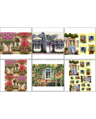 Набор декупажных карт 6 шт «Чайные домики 2» арт. СМЛ-14680-1-СМЛ3827909