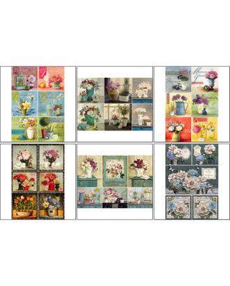 Набор декупажных карт 6 шт «Домашний сад» арт. СМЛ-34004-1-СМЛ3827913