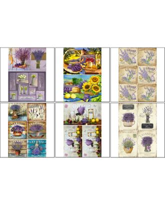 Набор декупажных карт 6 шт «Лаванда» арт. СМЛ-14683-1-СМЛ3827914