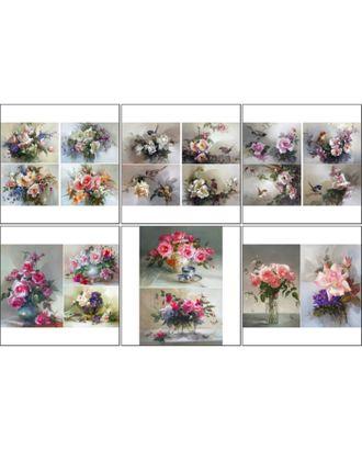 Набор декупажных карт 6 шт «Цветы и птицы» арт. СМЛ-14686-1-СМЛ3827917
