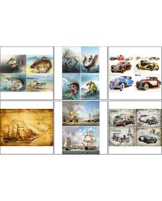 Набор декупажных карт 6 шт «Мужские радости» арт. СМЛ-30094-1-СМЛ3827998