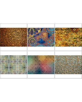 Набор декупажных карт 6 шт «Радужные фоны» арт. СМЛ-14689-1-СМЛ3828000