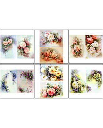 Набор декупажных карт 6 шт «Винтажные цветы» арт. СМЛ-14693-1-СМЛ3828007
