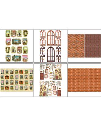 Набор декупажных карт 6 шт «Чайные домики 1» арт. СМЛ-14702-1-СМЛ3828147