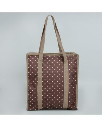 Сумка для рукоделия «Горох», 35х30х7 см, цвет коричневый арт. СМЛ-14813-1-СМЛ3837119