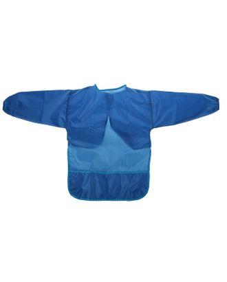 Фартук-накидка с рукавами для труда 540 х 450 Calligrata 3 кармана, синий, рост 120-140 см, длина рукава 34 см арт. СМЛ-120830-1-СМЛ0003844402