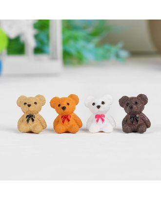 """Миниатюра кукольная """"Мишка"""", набор 4 шт, размер 1 шт 1,8х1,4х1,1 см, цв.МИКС арт. СМЛ-14938-1-СМЛ3851683"""