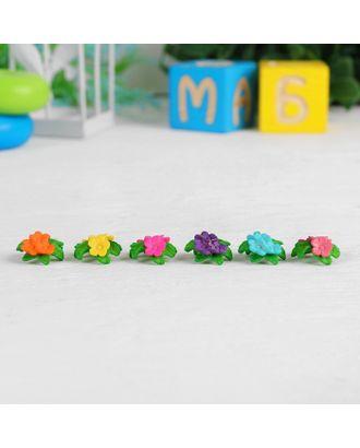 "Миниатюра кукольная ""Цветочки"", набор 6 шт, размер 1 шт 1,6х0,7х1,6 см, цв.МИКС арт. СМЛ-14940-1-СМЛ3851685"