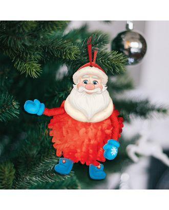 """Елочная игрушка из помпона """"Дед Мороз"""" арт. СМЛ-14987-1-СМЛ3854769"""
