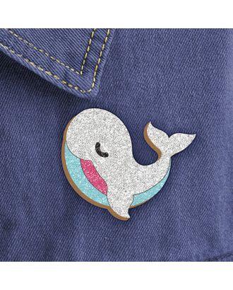 """Фреска, значок """"Белый кит"""" арт. СМЛ-15105-1-СМЛ3862989"""