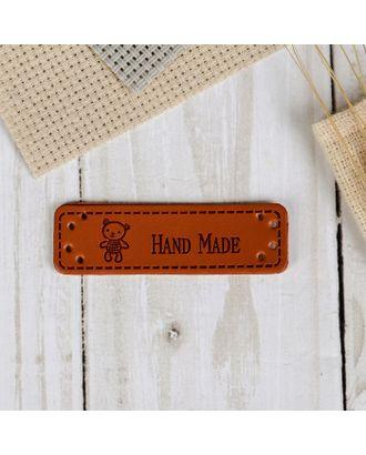 Нашивка «Hand made», 10 шт, 5 × 1,5 см арт. СМЛ-15118-1-СМЛ3863058