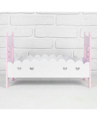 """Кровать для кукол """"Для принцессы"""" р.41,5х25,5х27 см арт. СМЛ-15163-1-СМЛ3866397"""