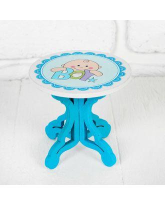 """Столик для кукол """"В голубом цвете"""" р.9х8х9 см арт. СМЛ-15164-1-СМЛ3866402"""