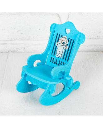 """Кресло для кукол """"В голубом цвете"""" р.10х7х13 см арт. СМЛ-15167-1-СМЛ3866405"""