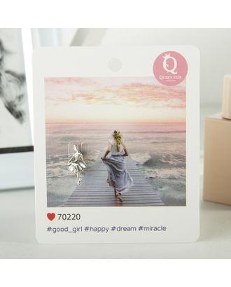 """Значок """"Балерина"""" мечтай, цвет белый в серебре арт. СМЛ-15224-1-СМЛ3869966"""