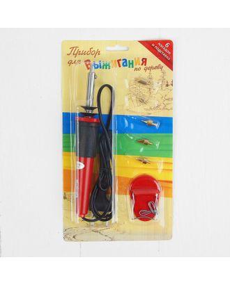 Выжигательный аппарат по дереву, набор: 6 насадок, подставка арт. СМЛ-15308-1-СМЛ0038742