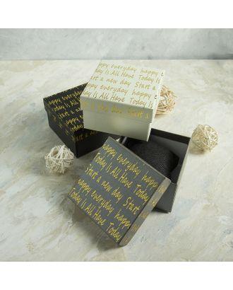 """Коробочка подарочная под набор """"Курсив"""", 9*9 (размер полезной части 8,3х8,3см) арт. СМЛ-23494-4-СМЛ3876993"""