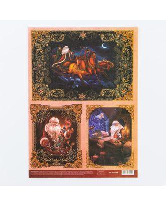Декупажная карта «Новогодняя ночь», 21х29,7 см арт. СМЛ-15397-1-СМЛ3877946
