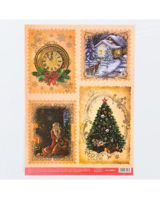 Декупажная карта «Новогоднее чудо», 21х29,7 см арт. СМЛ-15401-1-СМЛ3877950