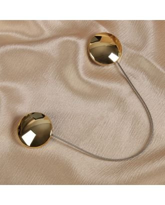 Подхват для штор «Круг», 4 × 4 см, цвет серебряный арт. СМЛ-29126-2-СМЛ3878750