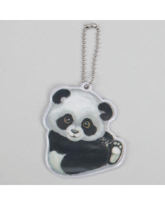 Светоотражающий элемент «Панда», 7 × 6 см, цвет белый/чёрный арт. СМЛ-15419-1-СМЛ3878760