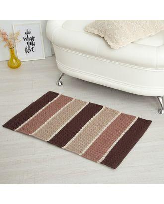 Ковер Flow-III, 50 х 80 ± 3 см, цвет коричневый. арт. СМЛ-121369-1-СМЛ0003882329