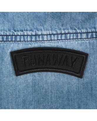 Термоаппликация «Runaway» р.2,5х8,3 см арт. СМЛ-29081-2-СМЛ3885135