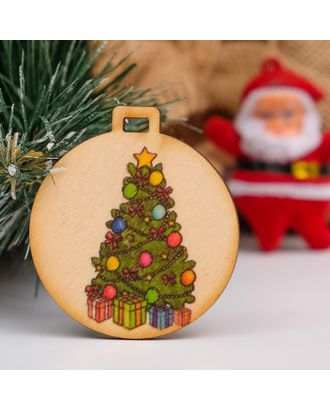 """Бирка """"Новогодние подарки"""", D=5см арт. СМЛ-37437-1-СМЛ0003885158"""
