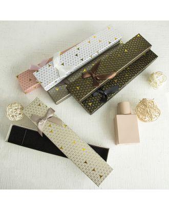 """Коробочка подарочная под набор """"Треугольники"""" блестящие, 5*8 (размер полезной части 4,8х7,7см) арт. СМЛ-23496-4-СМЛ3885174"""