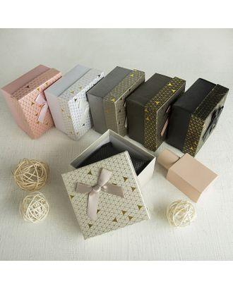 """Коробочка подарочная под набор """"Треугольники"""" блестящие, 5*8 (размер полезной части 4,8х7,7см) арт. СМЛ-23496-2-СМЛ3885176"""