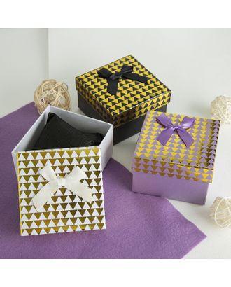 """Коробочка подарочная под набор """"Треугольники"""", 13*18 (размер полезной части 12,5х17,5см) арт. СМЛ-23497-3-СМЛ3885179"""