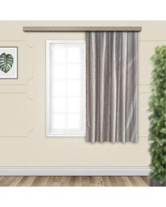 Штора портьерная для кухни Тергалет 135х180 см, серый, пэ 100% арт. СМЛ-23552-1-СМЛ3889870