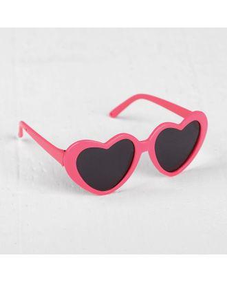 """Очки для куклы """"Сердечки"""", набор 2 шт, с темными и прозрачными линзами, цвет оправы розовый арт. СМЛ-15611-1-СМЛ3903955"""