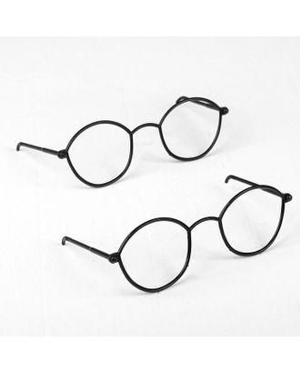 Очки для игрушек, набор 2 шт, цв.черный арт. СМЛ-15627-1-СМЛ3903995