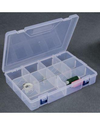 Контейнер для рукоделия, со съемными ячейками, 10 отделений, 30х20,5х6 см, цв.прозрачный арт. СМЛ-15631-1-СМЛ3904003