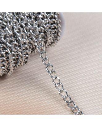 Цепочка для сумки, плоская, 4,6х6,6 мм, 10±0,5м арт. СМЛ-23783-1-СМЛ3904510