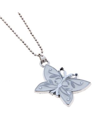 "Кулон ""Выбражулька"" бабочка, цвет белый арт. СМЛ-15674-1-СМЛ0390808"