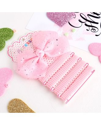 """Набор для волос """"Малютка"""" (4 резинки, 1 зажим) блеск розовый арт. СМЛ-23602-1-СМЛ3914618"""