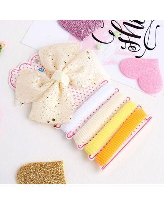 """Набор для волос """"Малютка"""" (4 резинки, 1 зажим) блеск розовый арт. СМЛ-23602-2-СМЛ3914619"""