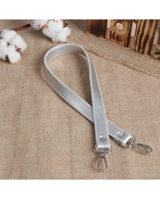 Ручка для сумки, кожаная, с карабинами, 60х2 см арт. СМЛ-23586-1-СМЛ3915674