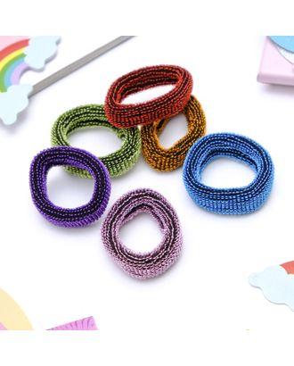 """Резинка для волос """"Махрушка"""" 4 см блеск (набор 36 шт) разноцветные арт. СМЛ-106531-1-СМЛ0003917686"""