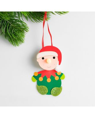Набор для создания новогодней подвески со светом «Снеговик новогодний» арт. СМЛ-15984-1-СМЛ3925188