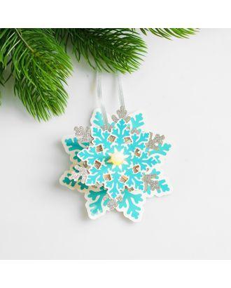 Набор для создания новогодней подвески со светом «Снежинка» арт. СМЛ-15987-1-СМЛ3925191